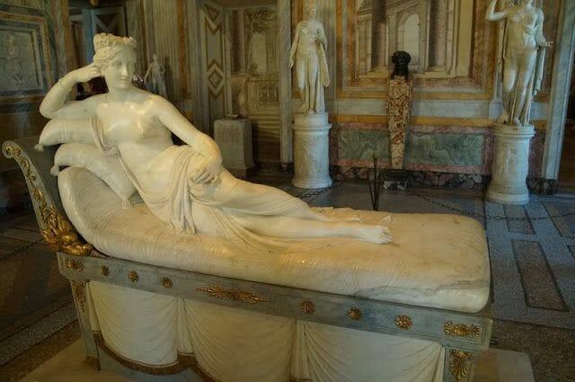 Paulina Bonaparte de Canova(Galleria Borghese)