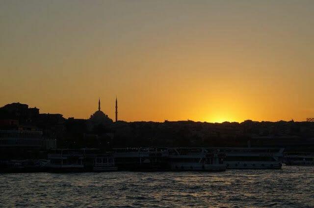 atardecer Puente Gálata de Estambul