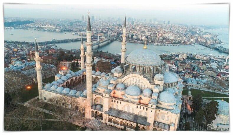mezquita de suleymaniye desde el aire