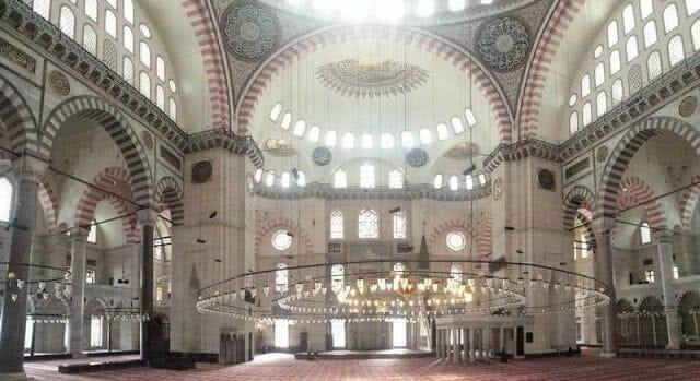 interior mezquita de Süleymaniye Estambul