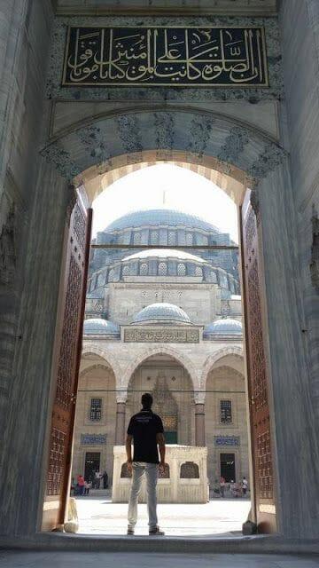 entrada mezquita de Süleymaniye