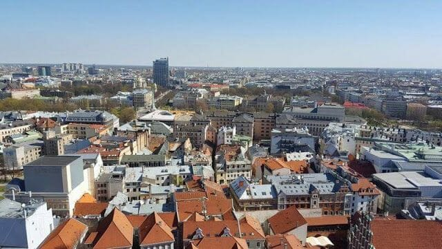 vistas de Riga desde campanario de san pedro