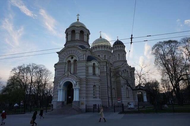 la iglesia ortodoxa de Letonia de riga