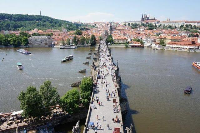 Puente Carlos Praga desde la Torre de la Ciudad Vieja