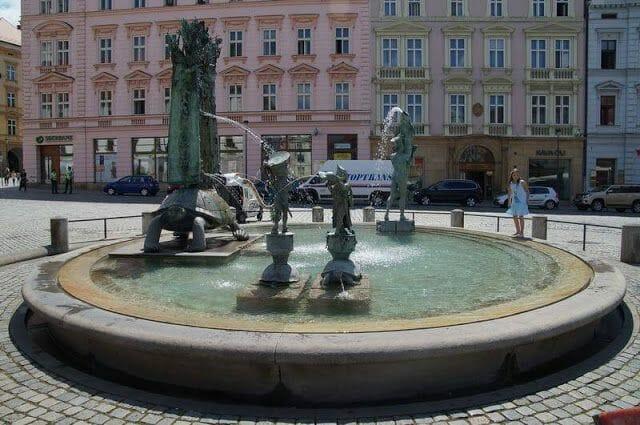 Fuentes de las plazas de Olomouc