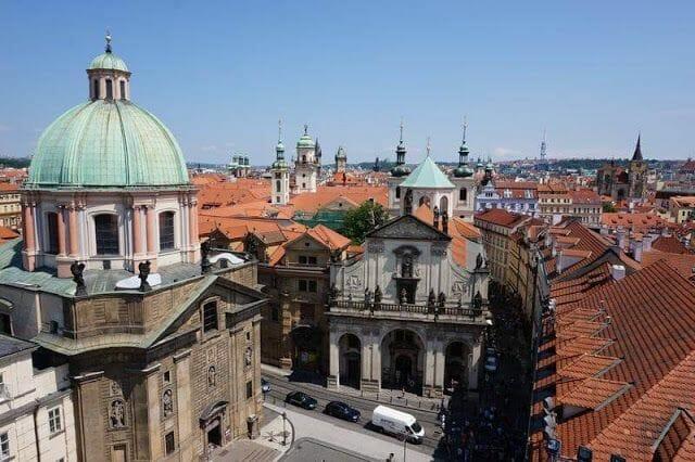 cúpula de la iglesia de San Francisco de Asís de Praga