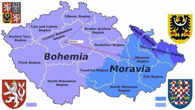 mapa de chequia