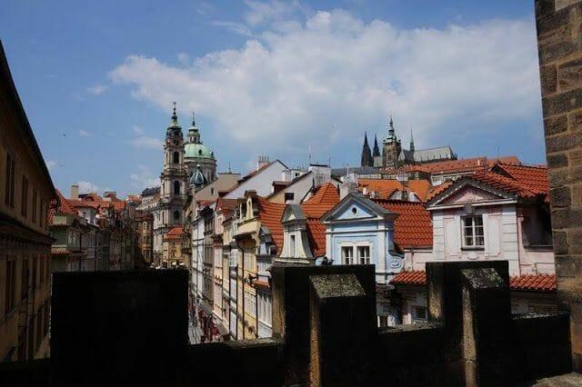San Nicolás y el Castillo desde las almenas de la Torre