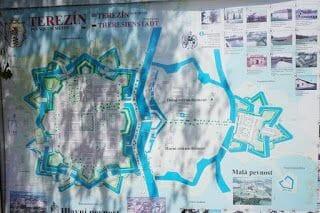 mapa gueto terezin