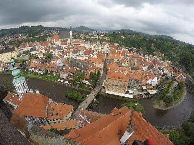 vistas torre de Cesky krumlov