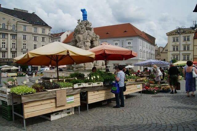 Zelný trh, el mercado de las verduras de brno