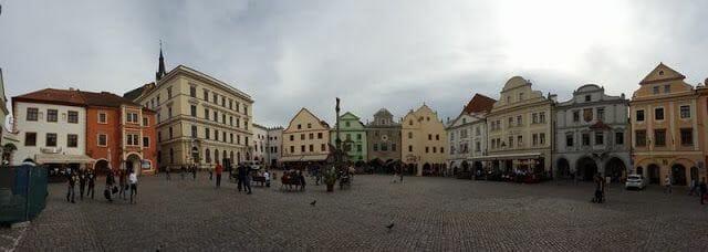 La plaza de la Concordia de Cesky krumlov