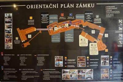 plano planta castillo de Cesky krumlov