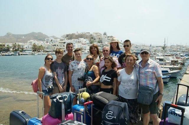 grupo turistas en Naxos