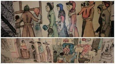 dibujos de una prisionera del campo terezin