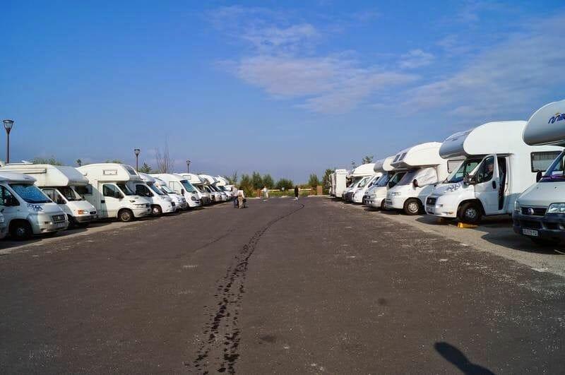 aparcamiento autocaravanas mont saint Michel
