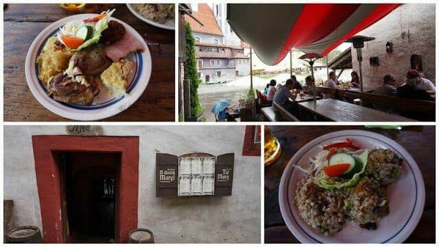 restaurante Two Marys de cesky krumlov
