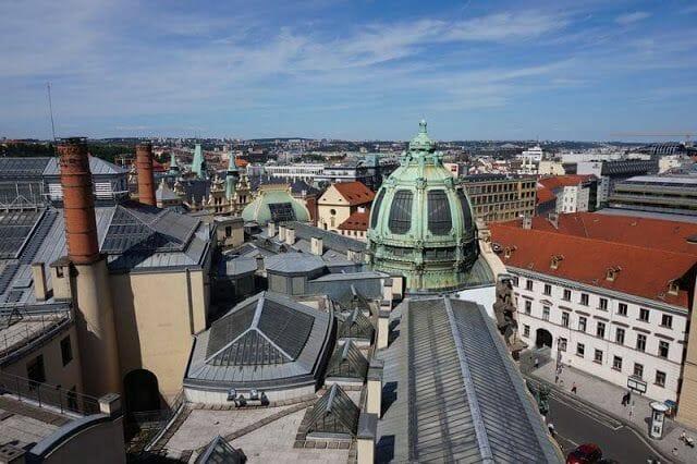 Torre de la Pólvora de Praga paisaje