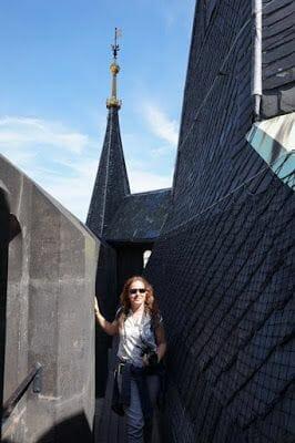 en lo alto de la Torre de la Pólvora de Praga