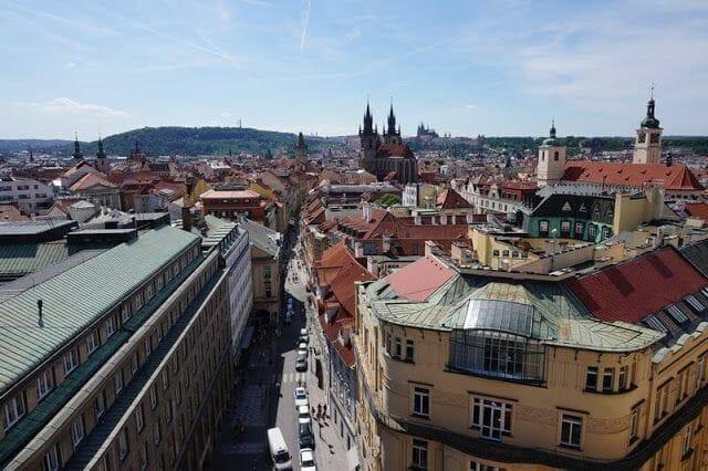 vistas Torre de la Pólvora de Praga
