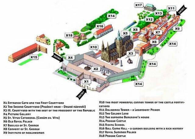 plano castillo Praga