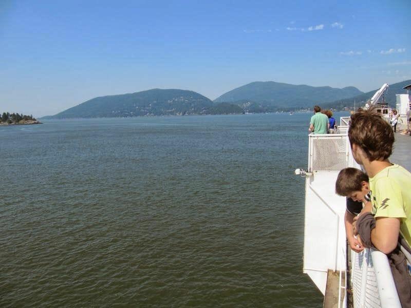 Cruzar en ferry a la isla de Vancouver en coche