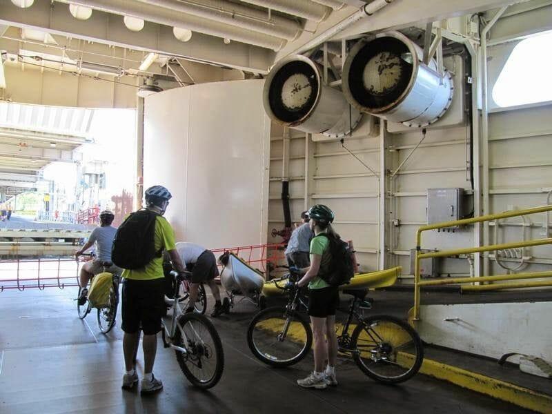 en bicicleta ferry Nanaimo