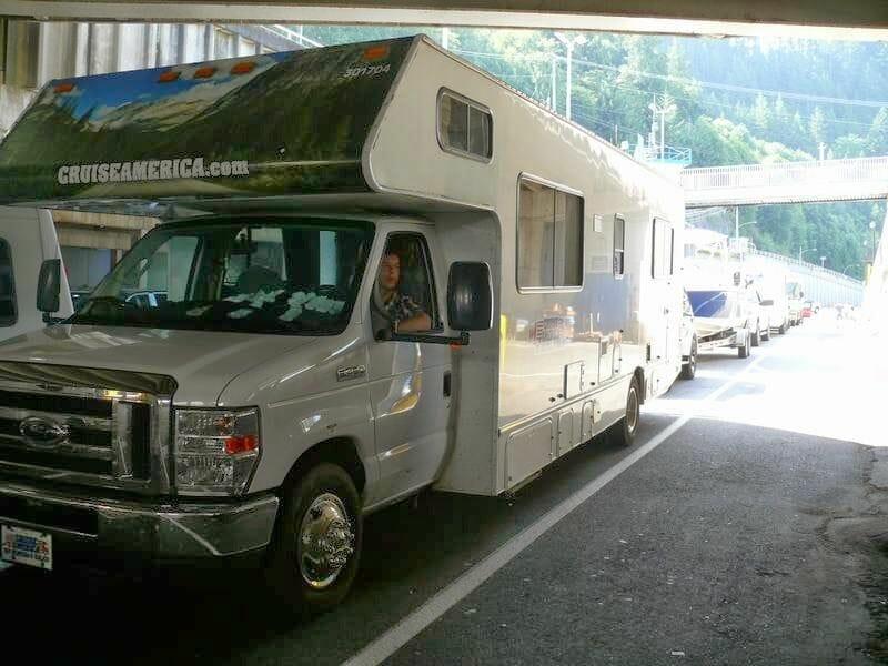 Cruzar en ferry a la isla de Vancouver en autocaravana