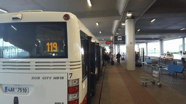 línea 119 autobus aeropuerto praga