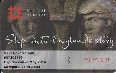 ENGLISH HERITAGE PASS