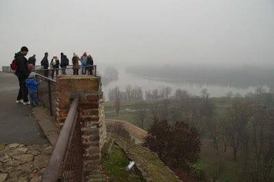 Desembocadura río Sava en el Danubio desde Kalemegdan