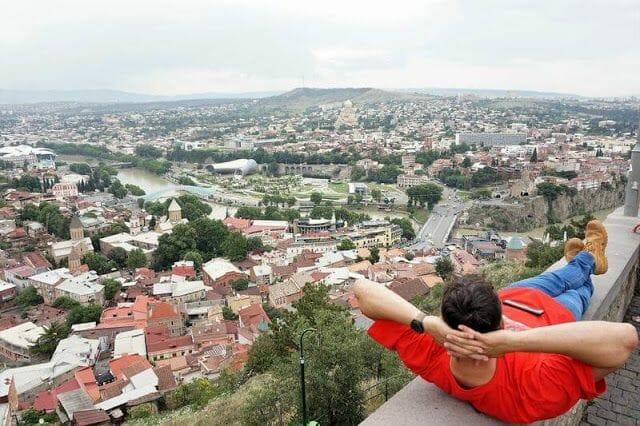 Tbilisi desde las alturas