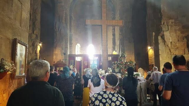 misa en el monasterio de Jvari