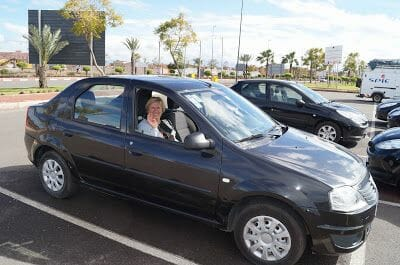 alquiler de coche en el aeropuerto de Marrakech