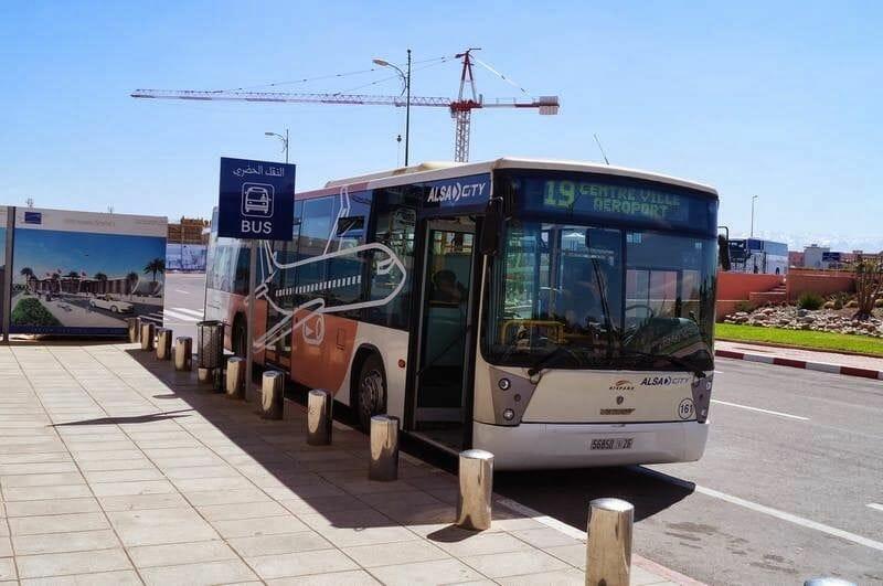 autobus aeropuerto de Marrakech