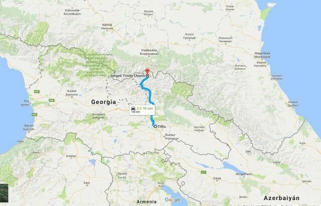 de Tiflis a Kazbek