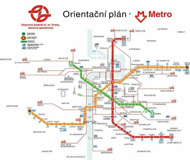 plano metro praga