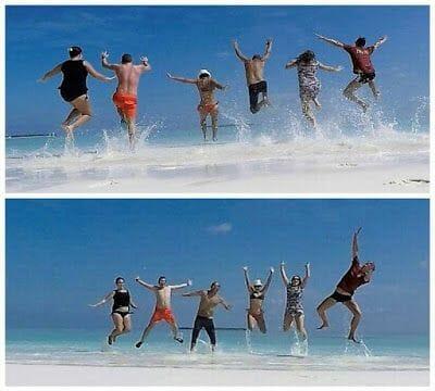 saltar de alegria al conseguir un Viaje a Maldivas barato