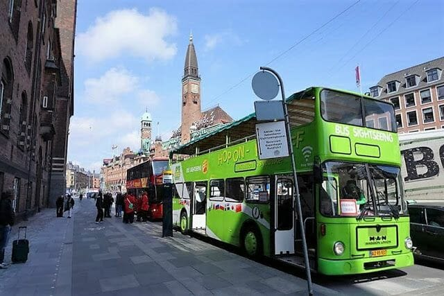 Bus turístico en Copenhague