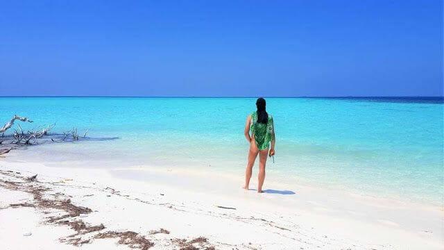 desnudos en Maldivas