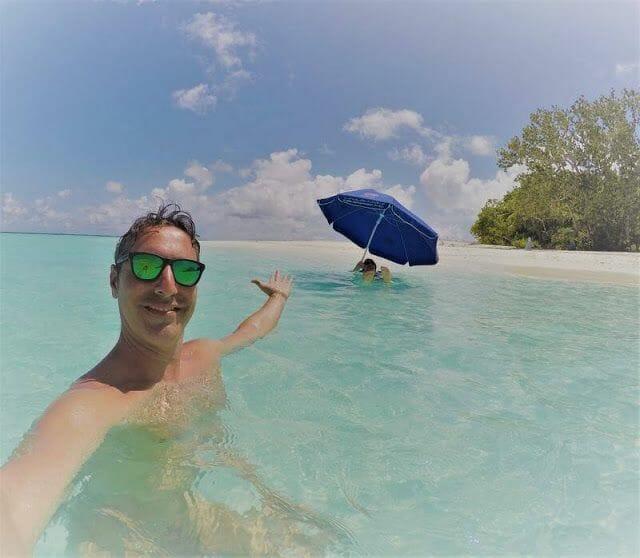 tomar el sol en las maldivas