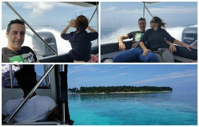 lancha rapida en Maldivas