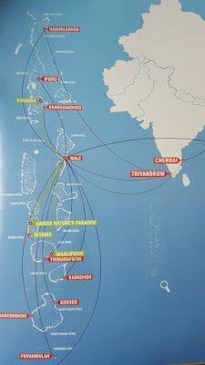 mapa atolones de Maldivas
