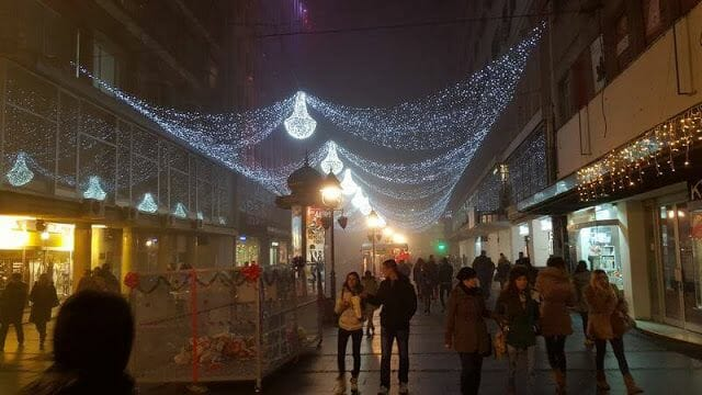 Navidad en Belgrado calles