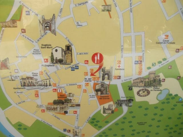 mapa ruta que ver en perelada