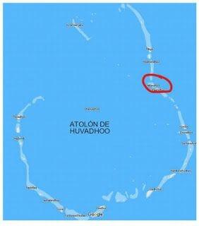 isla de Nilandhoo en atolon Huvadhoo Maldivas