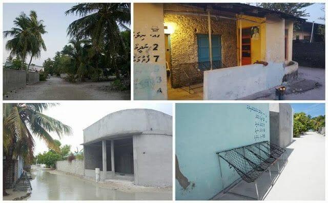 calles isla de Nilandhoo Maldivas