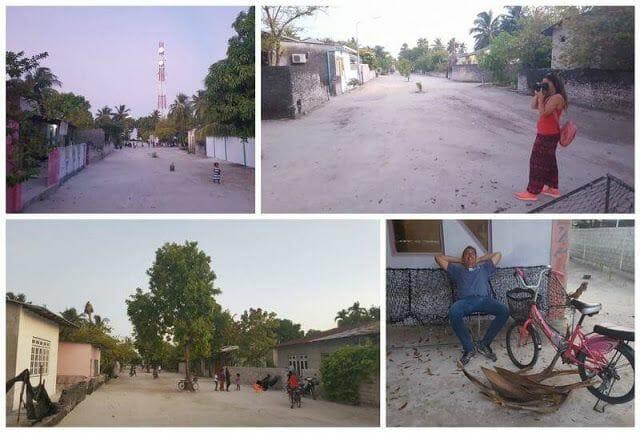calles isla de Maldivas