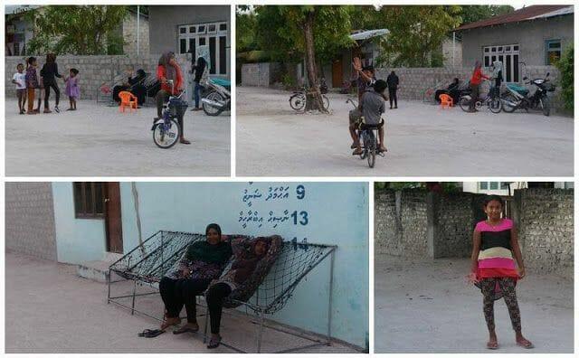 niños isla de Nilandhoo Maldivas