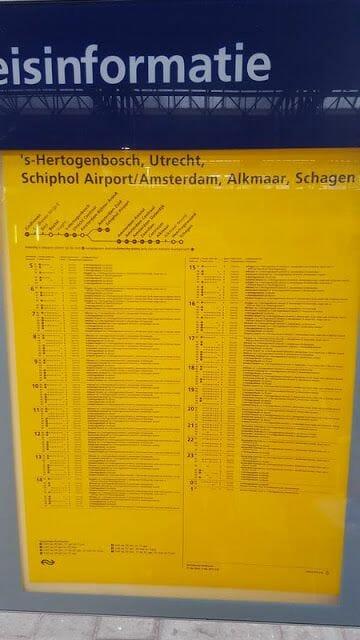 horarios de tren de eindhoven a amsterdam